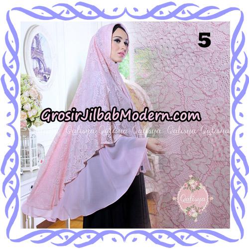 Jilbab Syari Modern Khimar Halwa Brukat Seri 4 Original by Qalisya Hijab Brand No 5