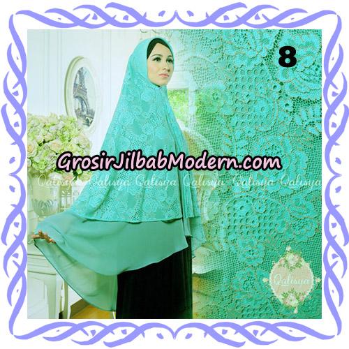 Jilbab Syari Modern Khimar Halwa Brukat Seri 4 Original by Qalisya Hijab Brand No 8