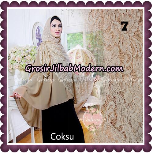 Jilbab Syari Modern Khimar Halwa Brukat Seri 5 Glitter Original by Qalisya Hijab Brand No 7
