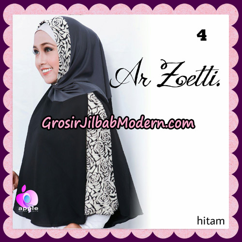 Jilbab Syari Terbaru Khimar Ar Zetti Original By Apple Hijab Brand No 4 Hitam