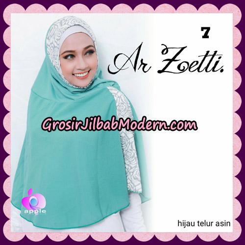Jilbab Syari Terbaru Khimar Ar Zetti Original By Apple Hijab Brand No 7 Hijau Telur Asin