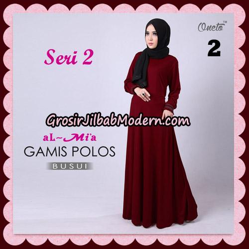 Gamis Polos Busui Seri 2 Original By AlMia Brand No 2