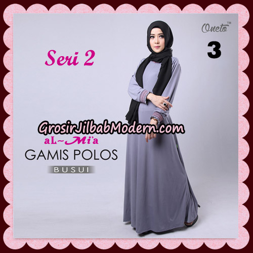 Gamis Polos Busui Seri 2 Original By AlMia Brand No 3
