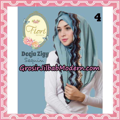 Jilbab Instant Deeja Zigy Sequin Original by Fiori Design No 4