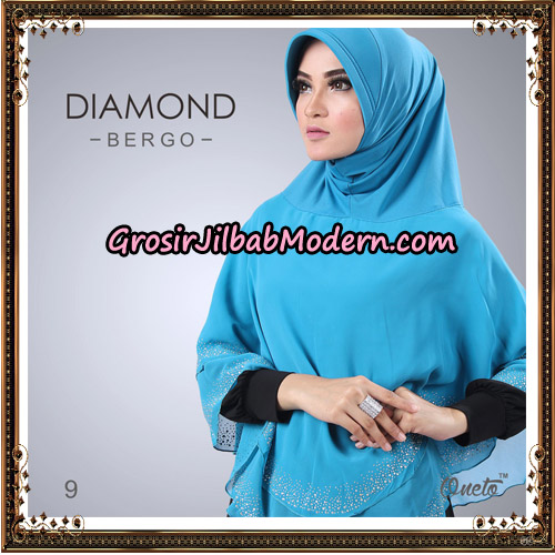 Jilbab Instant Diamond Bergo Elegant Support Oneto Hijab No 9