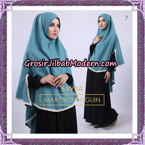 Jilbab Instant Maroko Pinguin Original By Sayra Hijab Brand No 7