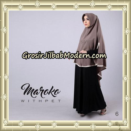 Jilbab Instant Maroko WithPet Original By Sayra Hijab Brand No 6
