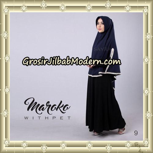Jilbab Instant Maroko WithPet Original By Sayra Hijab Brand No 9
