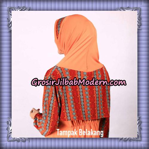 Jilbab Lengan Tunik Elya Ethnic Original By Fadeya Brand - Tampak Belakang