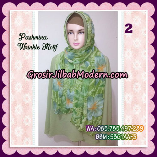 Jilbab Pashmina Bahan Sifone Wrinkle Motif Cantik No 2