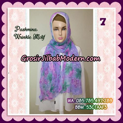 Jilbab Pashmina Bahan Sifone Wrinkle Motif Cantik No 7