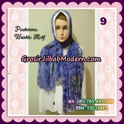 Jilbab Pashmina Bahan Sifone Wrinkle Motif Cantik No 9