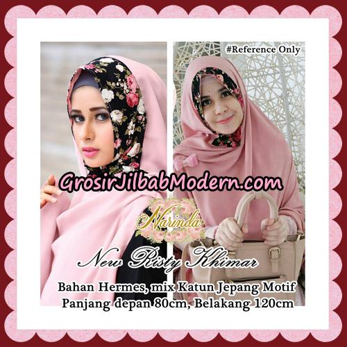 Jilbab Syari New Risty Khimar Original By Narinda Hijab Brand - Detail