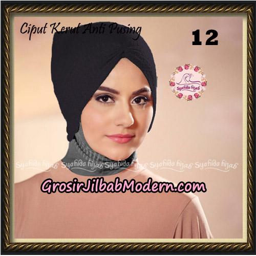 Ciput Kerut Anti Pusing Original By Syahida Brand No 12