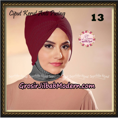 Ciput Kerut Anti Pusing Original By Syahida Brand No 13