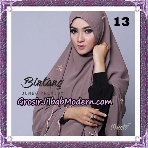 Jilbab Cantik Khimar Bintang Jumbo Premium Original By Oneto Hijab Brand No 13