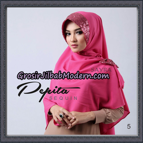Jilbab Cantik Pepita Sequin Original By Sayra Hijab Brand No 5