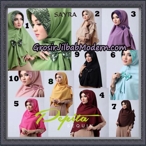 Jilbab Cantik Pepita Sequin Original By Sayra Hijab Brand