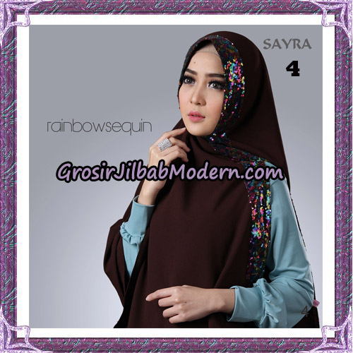 Jilbab Khimar Instant Rainbow Sequin Original By Sayra Hijab Brand No 4