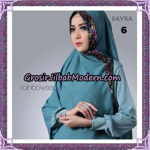 Jilbab Khimar Instant Rainbow Sequin Original By Sayra Hijab Brand No 6