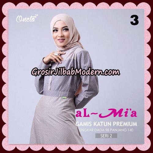 Gamis Katun Premium Seri 2 Original By AlMia Brand No 3
