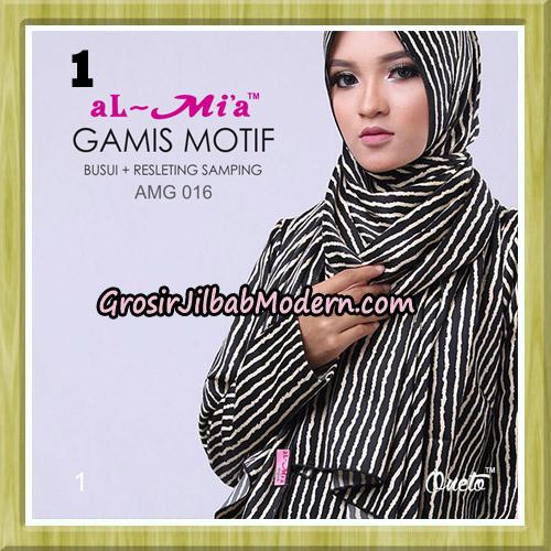 Gamis Motif Stelan AMG 016 Original By AlMia Brand No 1