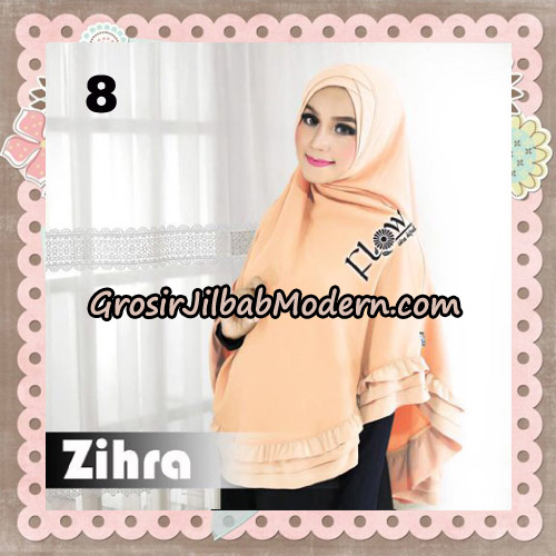 Jilbab Cantik Khimar Silang Zihra Original By Flow Idea NO 8