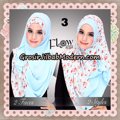 Jilbab Instant 2 Face & 2 Styles Flowly Original By Flow Idea No 3
