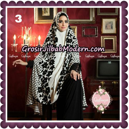 Jilbab Syari Modern Khimar Mymo - Mysha Motif Original by Qalisya Hijab Brand No 3