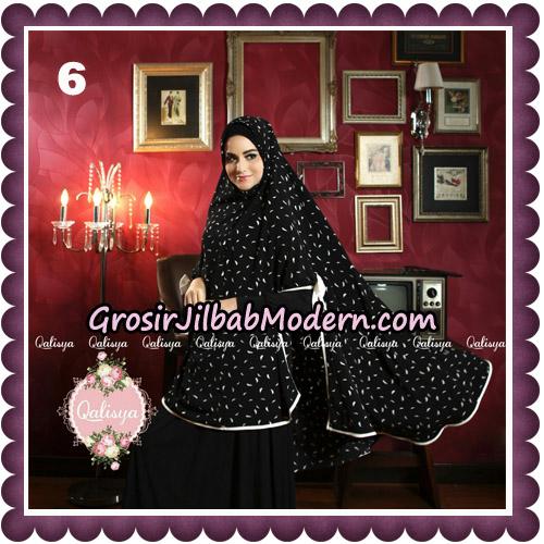 Jilbab Syari Modern Khimar Mymo - Mysha Motif Original by Qalisya Hijab Brand No 6