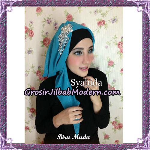 Turban Pesta Instant Sufya Original By Syahida Hijab Brand - Biru Muda