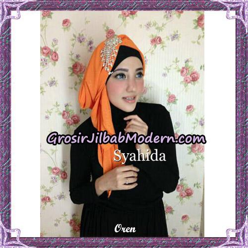 Turban Pesta Instant Sufya Original By Syahida Hijab Brand - Oren