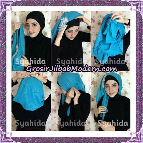 Turban Pesta Instant Sufya Original By Syahida Hijab Brand - Tutorial 2
