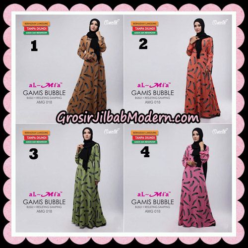 Gamis Bubble Motif Bulu AMG 018 Original By AlMia Brand