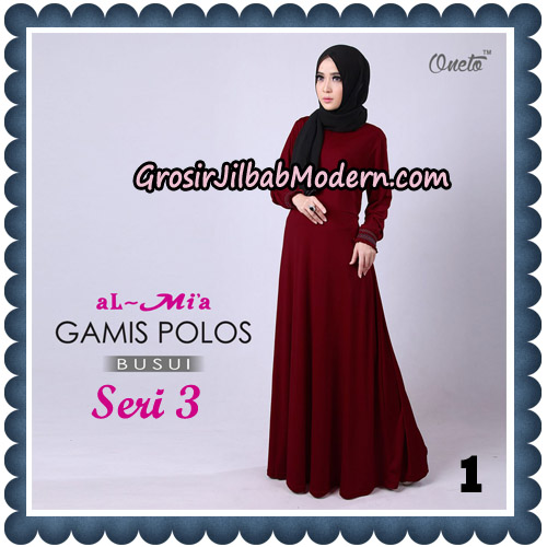 Gamis Polos Busui Seri 3 Original By AlMia Brand No 1