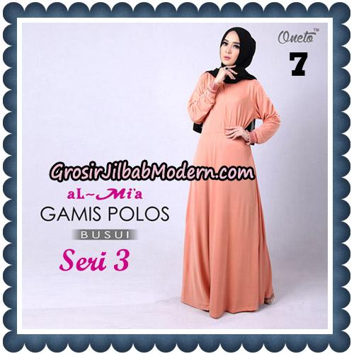 Gamis Polos Busui Seri 3 Original By AlMia Brand No 7