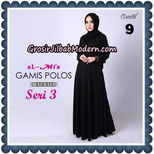 Gamis Polos Busui Seri 3 Original By AlMia Brand No 9