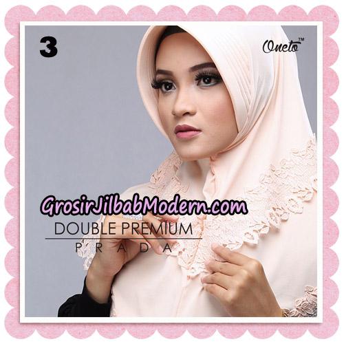 Jilbab Cantik Double Premium Prada Bergo Original By Oneto Hijab Brand NO 3