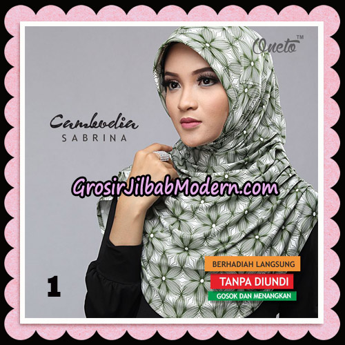 Jilbab Harian Sabrina Cambodia Original By Oneto Hijab Brand No 1