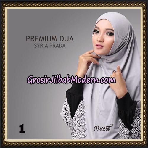 Jilbab Syria Prada Premium Dua Original By Oneto Hijab Brand No 1