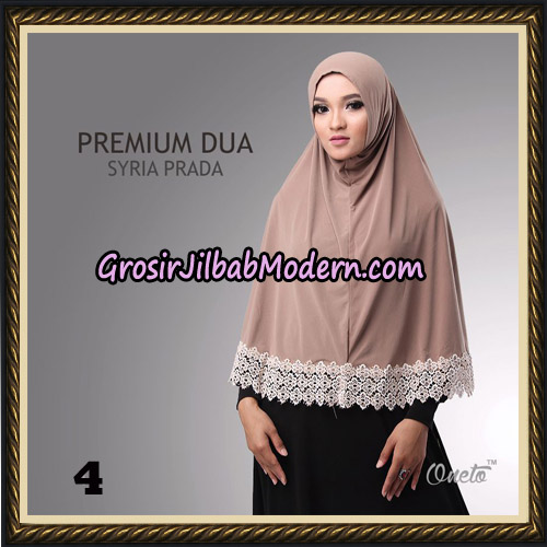 Jilbab Syria Prada Premium Dua Original By Oneto Hijab Brand No 4