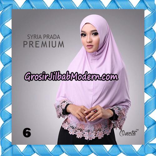 Jilbab Syria Prada Premium Mawar Original By Oneto Hijab Brand No 6
