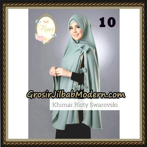 Jilbab Cantik Khimar Risty Swarovski Original by Fiori Hijab Brand NO 10