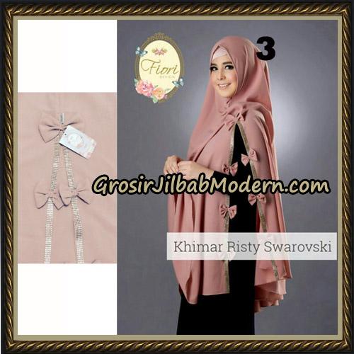 Jilbab Cantik Khimar Risty Swarovski Original by Fiori Hijab Brand No 3