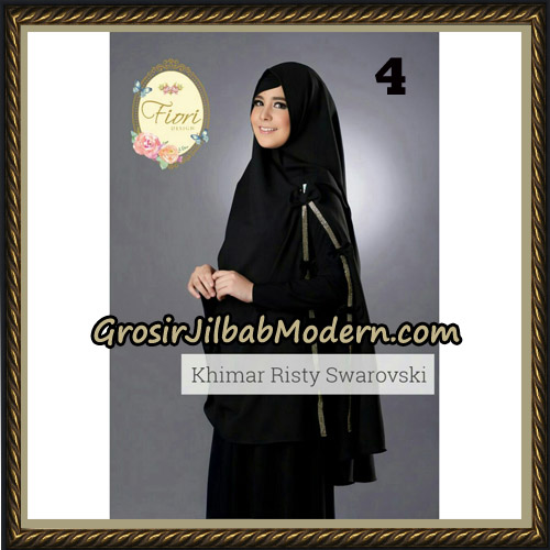 Jilbab Cantik Khimar Risty Swarovski Original by Fiori Hijab Brand No 4