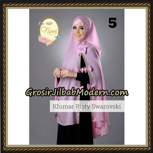 Jilbab Cantik Khimar Risty Swarovski Original by Fiori Hijab Brand No 5