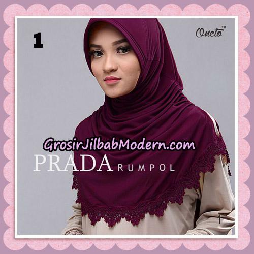 Jilbab Cantik Prada Rumpol Original By Oneto Hijab Brand No 1