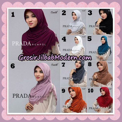 Jilbab Cantik Prada Rumpol Original By Oneto Hijab Brand