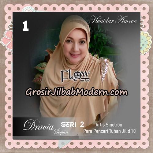 Jilbab Instant Cantik Syria Dravia Sequin Seri 2 Original By Flow Idea No 1