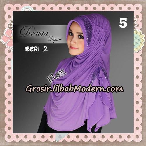 Jilbab Instant Cantik Syria Dravia Sequin Seri 2 Original By Flow Idea No 5